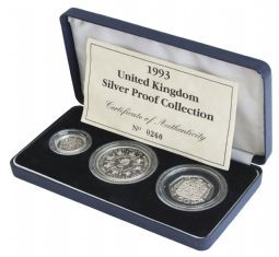 1993 3 Coin Silver Proof Collection for sale